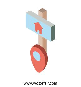 Isolated house banner icon isometric vector design