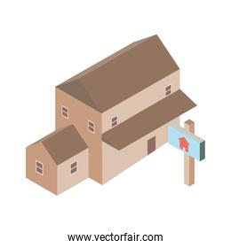 Isolated house icon isometric vector design