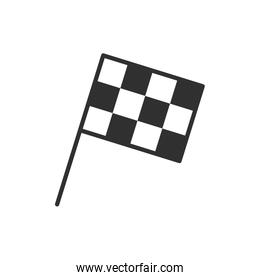 Isolated racing flag flat vector design