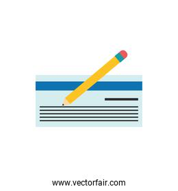 Isolated check and pencil icon flat vector design
