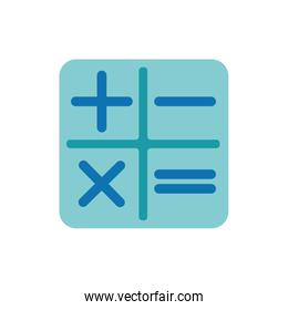 Isolated calculator buttons icon flat vector design