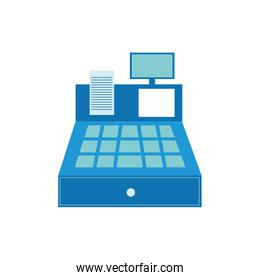 Isolated cash register icon flat vector design