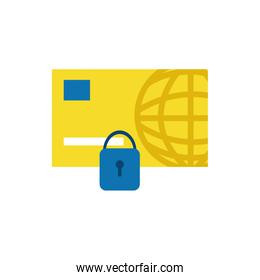 Isolated credit card icon flat vector design