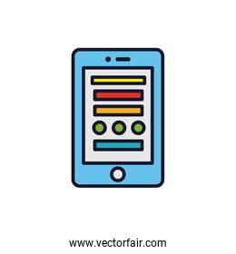 Isolated smartphone icon fill vector design