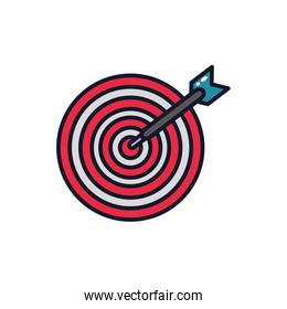 Isolated target icon fill vector design