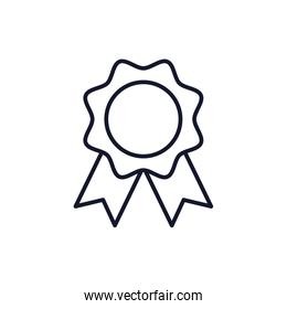 Isolated seal stamp icon line vector design