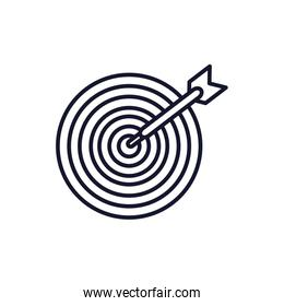 Isolated target icon line vector design