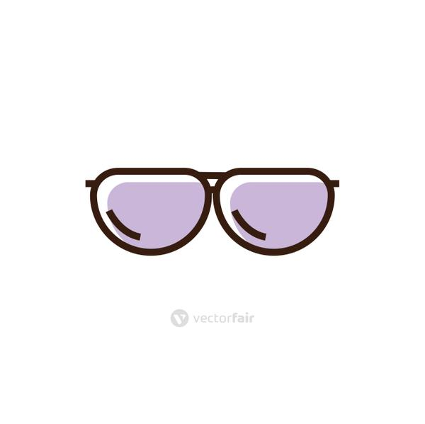 Isolated glasses line and fill vector design