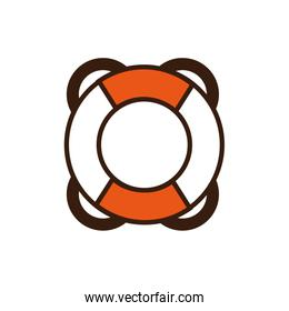 Isolated safe float icon line and fill vector design