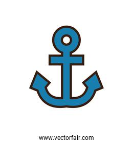 Isolated anchor icon line and fill vector design
