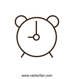 Isolated clock icon line and fill vector design