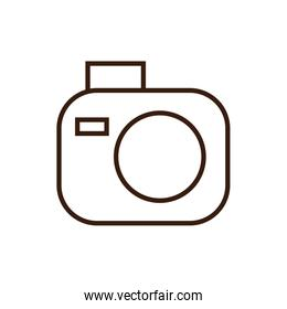 Isolated camera icon line and fill vector design