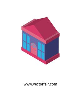 Digital house and wifi isometric icon vector design