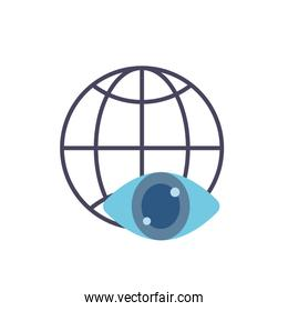 Global sphere icon flat vector design