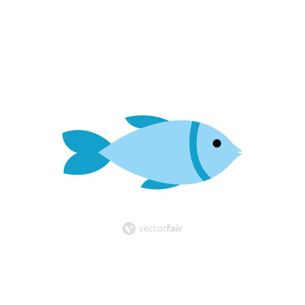 Isolated fish animal flat vector design