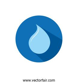 Isolated water drop icon block design