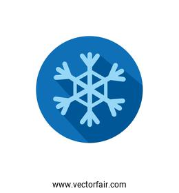 Isolated snowflake icon block vector design