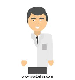 professional doctor specialist with glasses