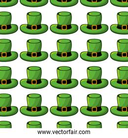 green hat accessory st patrick background
