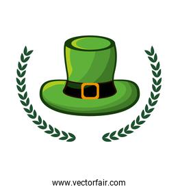 green hat accessory st patrick with branches