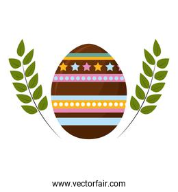 egg easter with branches plant decorative