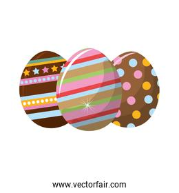 easter eggs with nice decoration design