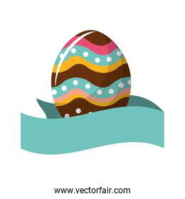 cute easter egg with ribbon decoration