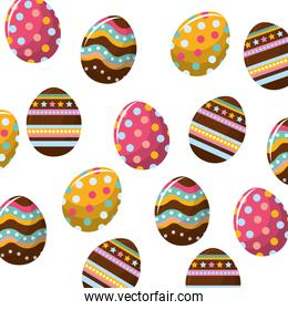 easter eggs with nice decoration background