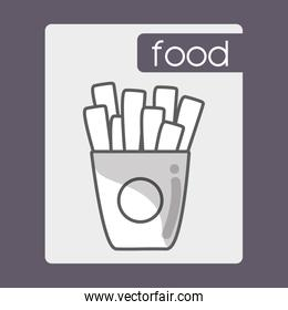 fries french fast food icon