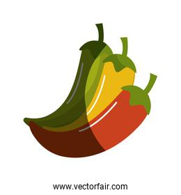 yellow, red and green chili pepper icon