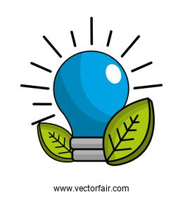 save bulb with leaves icon