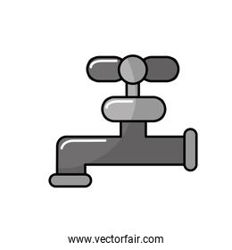 gray faucet closed to save water