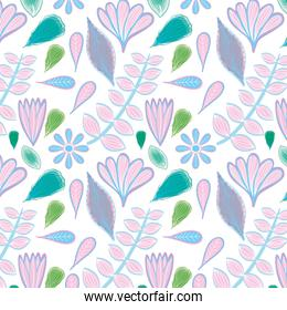 beautiful lilac and green colors floral pattern background