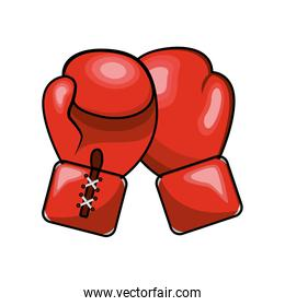 color boxing gloves icon