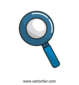 blue magnifying optical search tool