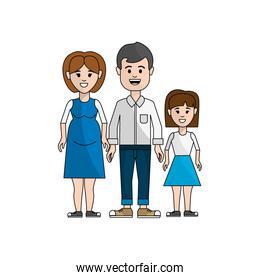 couple with their daughter icon