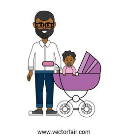 man with glasses and his baby icon