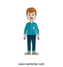 people, man with casual cloth avatar icon