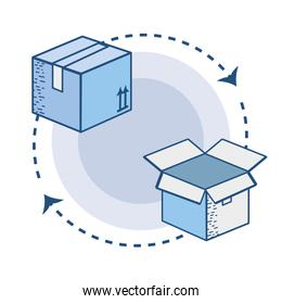 box pack to delivery services