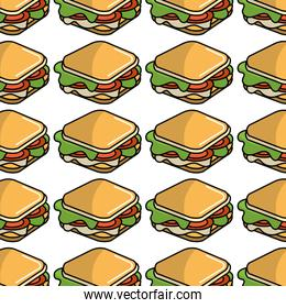 fast food sandwich meal background