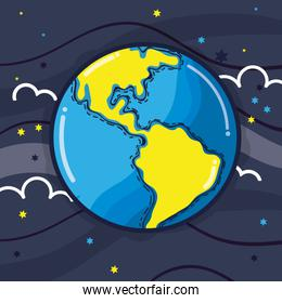 exploration earth planet in the galaxy space