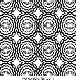 black and white shapes background