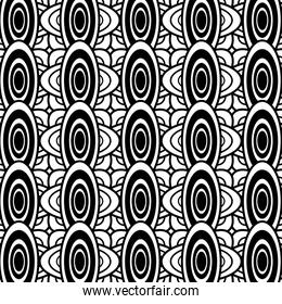 black and white oval geometric pattern background