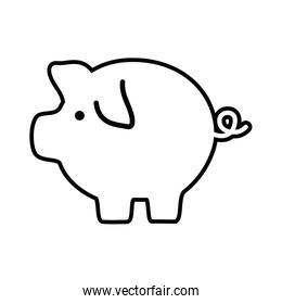 line pig icon save money currency