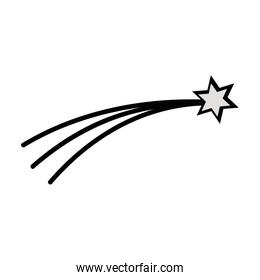 shooting star in the space universe galaxy