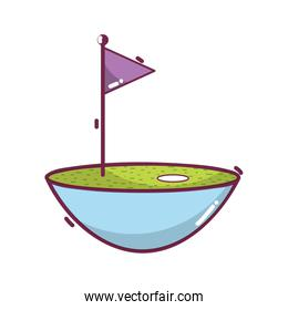 golf flag play game field icon
