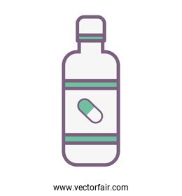 pharmaceutical drugs to people treatment over white