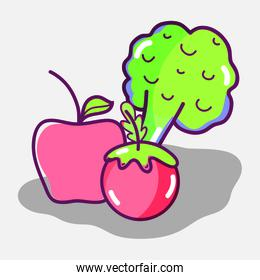 delicious and healthy organic fruit and vegetables