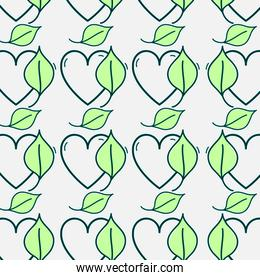 nice heart with natural leaf background