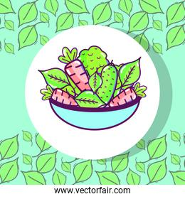 fresh and delicious vegetables inside of bowl